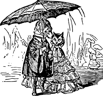 cat and dog holding an umbrella